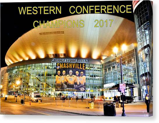 Western Conference Canvas Print - Western Conference Champions 2017 by Lisa Wooten