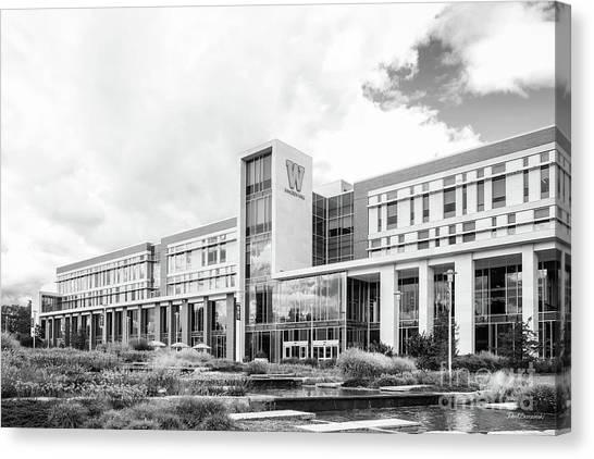 Western Michigan University Wmu Canvas Print - Western Michigan University Sangren Hall by University Icons