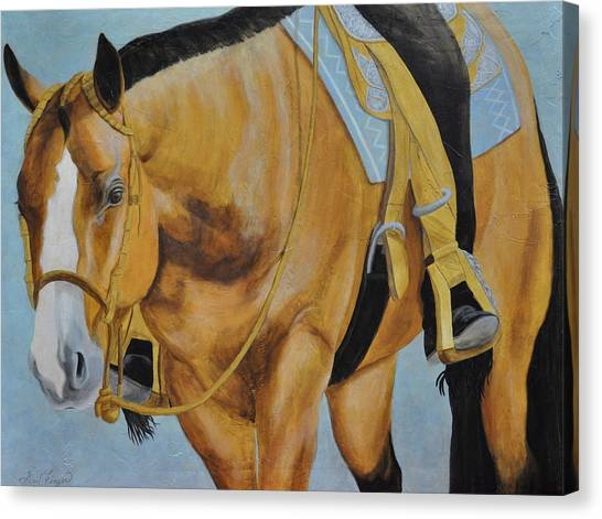 Western Pleasure Horse Canvas Print - Western Pleasure by Gail Finger