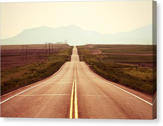 Mountain West Canvas Print - Western Road by Todd Klassy