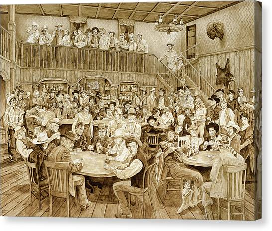 Duke University Canvas Print - Western Saloon by Tim Joyner