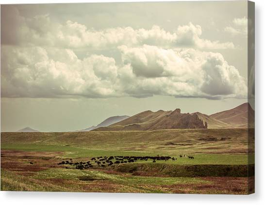 Mountain West Canvas Print - Western Storm by Todd Klassy