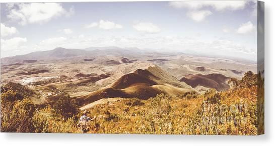 Backpacks Canvas Print - Western Tasmania Wilderness  by Jorgo Photography - Wall Art Gallery