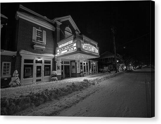 Westhampton Winter Night Canvas Print