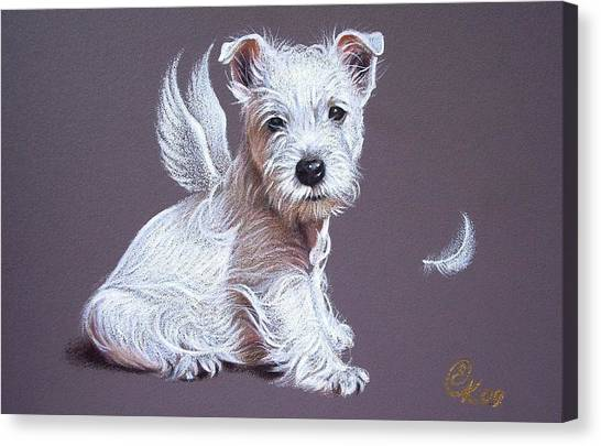 Westie Angel Canvas Print