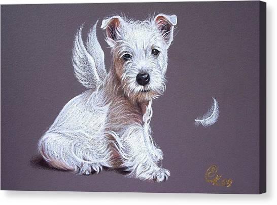 Westie Angel Canvas Print