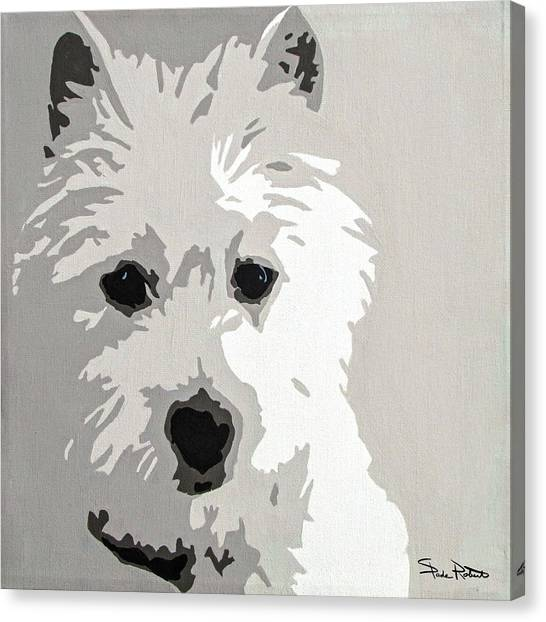 Pop Art Canvas Print - Westie by Slade Roberts