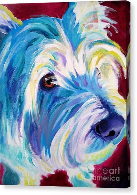 Westie - That Look Canvas Print