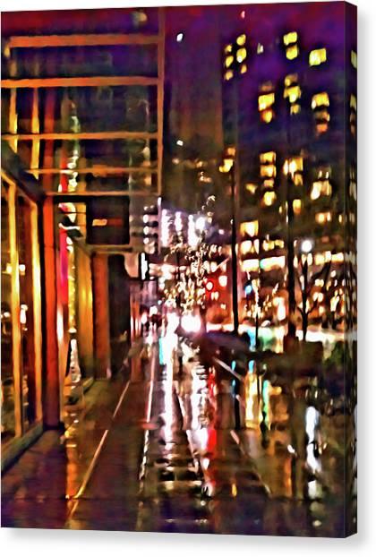 Westlake Rain Canvas Print