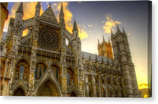 Westminster Abbey Canvas Print - Westminster Abbey by Jackie Russo