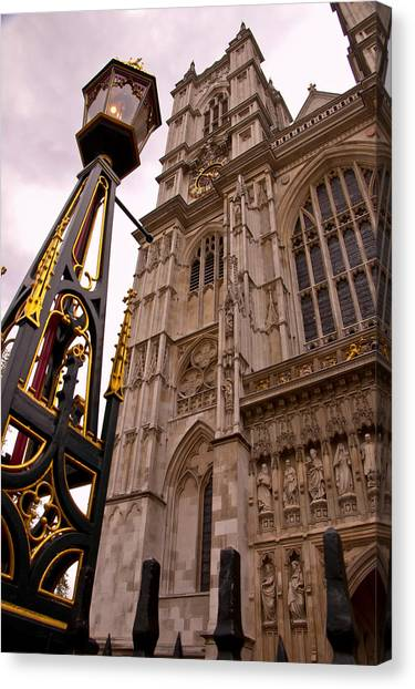Westminster Abbey Canvas Print - Westminster Abbey London England by Jon Berghoff