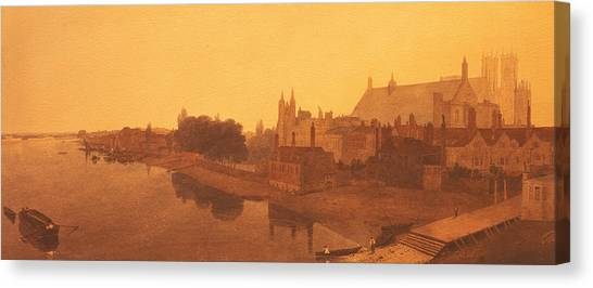 Westminster Abbey Canvas Print - Westminster Abbey  by Peter de Wint