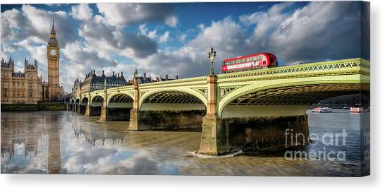 Palace Of Westminster Canvas Print - Westminster Bridge by Adrian Evans