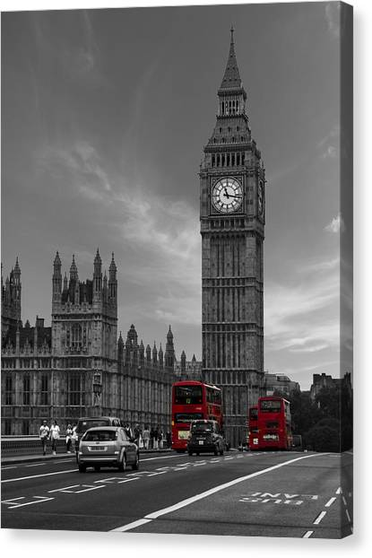 Parliament Canvas Print - Westminster Bridge by Martin Newman