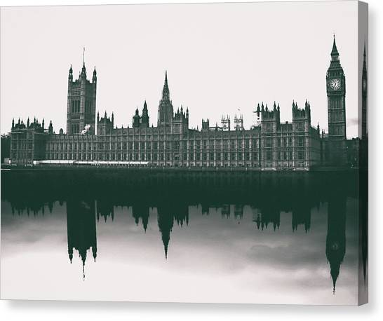 Westminster Abbey Canvas Print - Westminster Reflection by Martin Newman