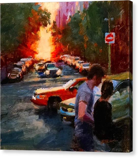Westside Sunset No. 3 Canvas Print