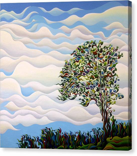 Westward Yearning Tree Canvas Print