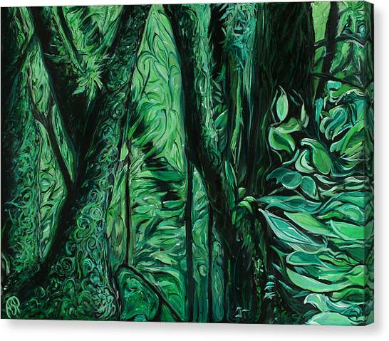 Wet Forest Canvas Print