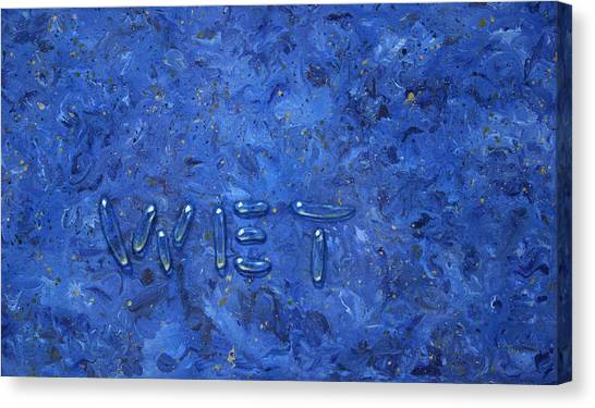Fluids Canvas Print - WET by James W Johnson