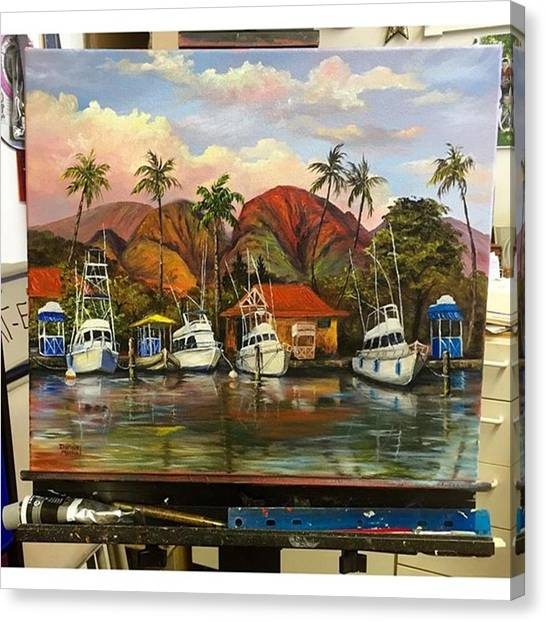 Hawaii Canvas Print - Wet Paint! Fresh Off My Easel This Oil by Darice Machel McGuire