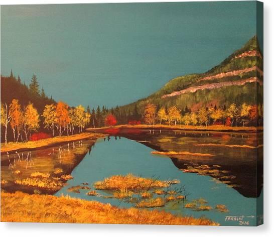 Wetlands In Autumn Canvas Print