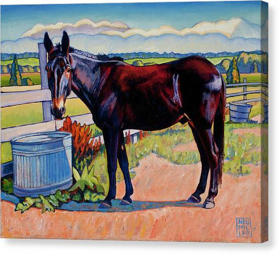 Wetting His Whistle Canvas Print