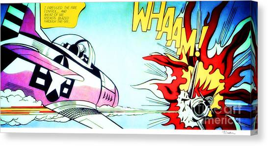 Whaam - Roy Lichtenstein  Canvas Print