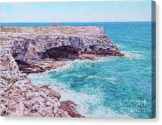 Eleuthera Art Canvas Print - Whale Point Cliffs by Eddie Minnis