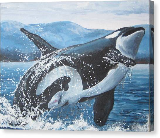 Whale Watching Canvas Print by May Moore