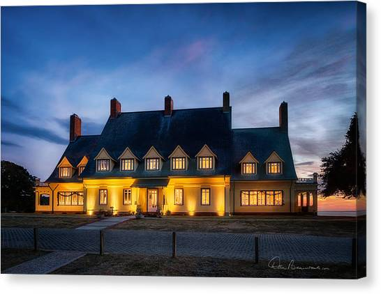 Whalehead Club Christmas 2337 Canvas Print