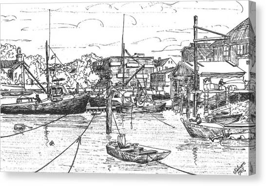 Whaler On Eel Pond Canvas Print