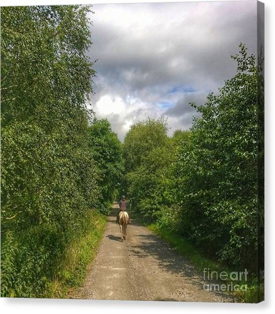 Ponies Canvas Print - What A Great Ride Out.  This Is Natalie by Isabella Shores