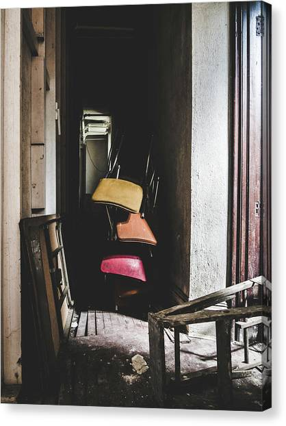 What A Mess. Hallway In Abandoned Building. Canvas Print by Dylan Murphy