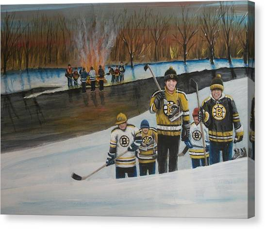Vancouver Canucks Canvas Print - What A Riot by Ron  Genest