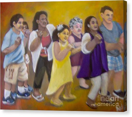 Canvas Print featuring the painting What America Should Look Like by Saundra Johnson