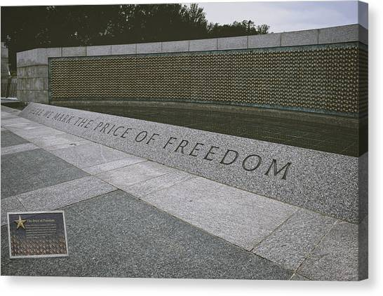Wii Canvas Print - What Does Freedom Cost? by Lucinda Walter