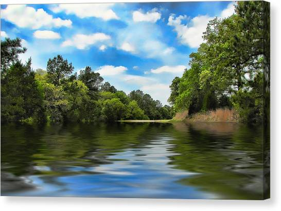 What I Remember About That Day On The River Canvas Print