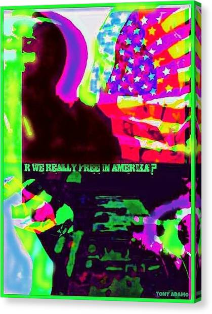 Take A Knee Canvas Print - What Is Freedom If Ya Can't Take A Knee...tony Adamo by Tony Adamo