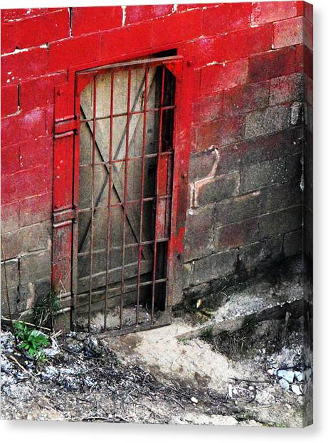 What Lies Behind The Door Canvas Print