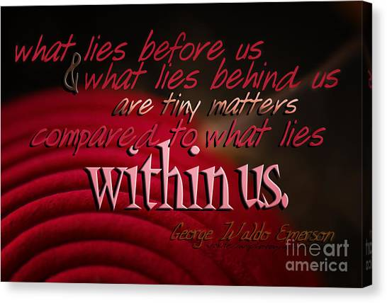 What Lies Within Us Canvas Print