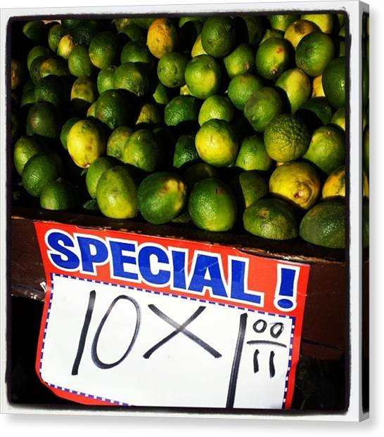 Canvas Print featuring the photograph What Lime Shortage? #dontbelievethehype by Mr Photojimsf