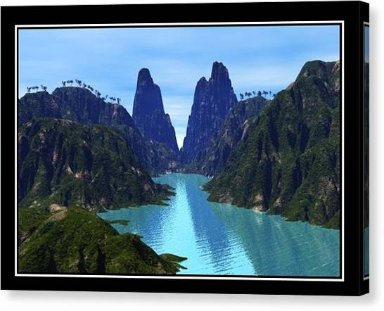 What River Canvas Print by William  Ballester