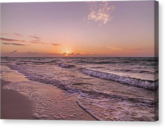 Ocean Sunsets Canvas Print - What Tomorrow Will Bring by Betsy Knapp