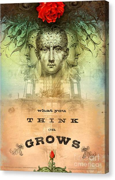 Law Canvas Print - What You Think On Grows by Silas Toball