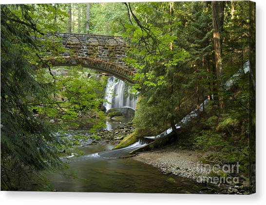 Whatcom Falls Bridge Canvas Print