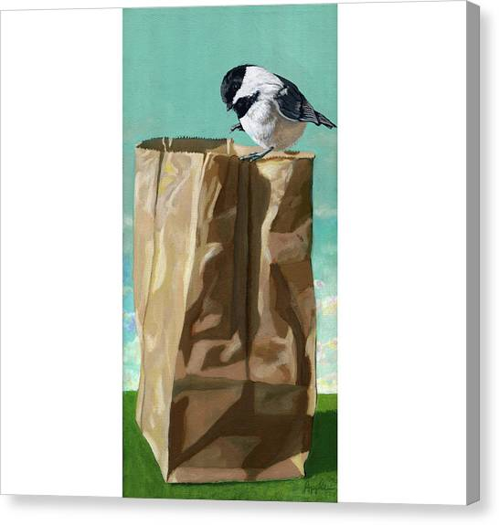 What's In The Bag Original Painting Canvas Print