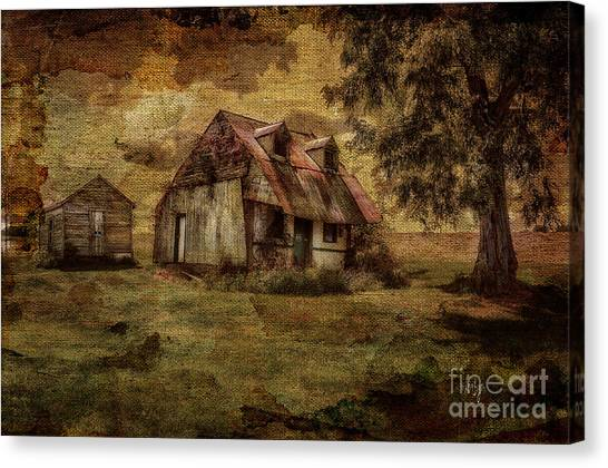 Abandoned House Canvas Print - What's Left by Lois Bryan