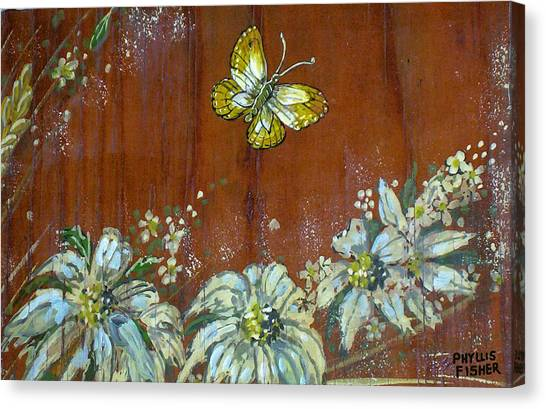 Wheat 'n' Wildflowers IIi Canvas Print by Phyllis Mae Richardson Fisher