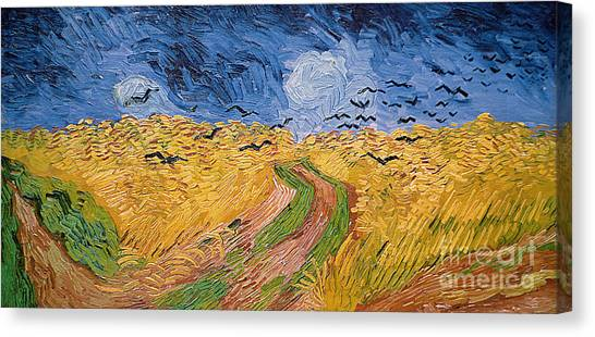 Corn Field Canvas Print - Wheatfield With Crows by Vincent van Gogh