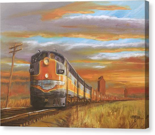 Freight Trains Canvas Print - Wheat....from North Dakota by Christopher Jenkins